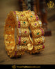 Antique Gold Finished Rubby Johda bangles Openable Bangles (Pair) | Punjabi Traditional Jewellery Exclusive