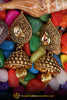 Antique Gold, Jhumki Earrings By Punjabi Traditional Jewellery