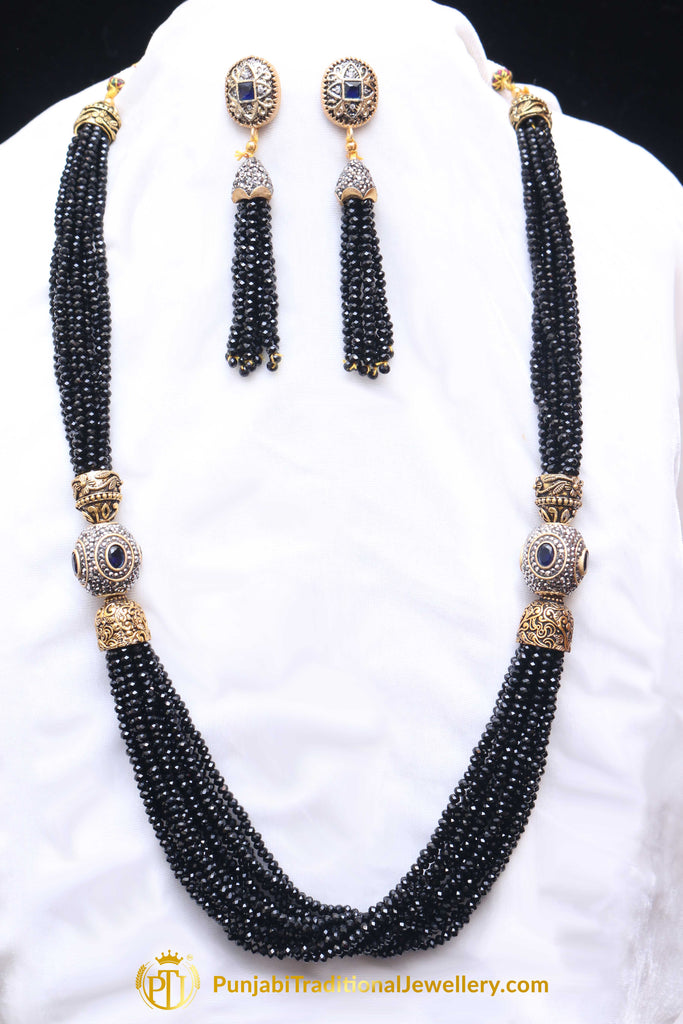Black Necklace Set By Punjabi Traditional Jewellery | Punjabi ...