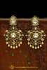 Gold Plated & Polki Earrings By Punjabi Traditional Jewellery