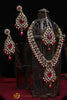 Red Kundan Necklace Set By Punjabi Traditional Jewellery