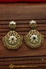 Green Polki Gold Plated Earrings By Punjabi Traditional Jewellery