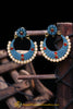 Blue & Red Pearl Earrings By Punjabi Traditional Jewellery