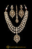 Triple Stringed Kundan With Pendant Necklace Set By Punjabi Traditional Jewellery
