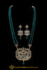 Green Red Kundan Meena Necklace Set By Punjabi Traditional Jewellery