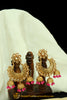 Pink Polki Earrings By Punjabi Traditional Jewellery