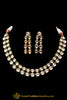 Double Stringed Kundan Necklace Set By Punjabi Traditional Jewellery