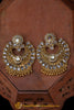 Antique Gold Polki Earrings By Punjabi Traditional Jewellery