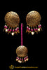 Pink Pippal Patti Sutd Earrings & Tikka Set By Punjabi Traditional Jewellery