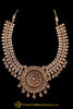 Champagne Stone Choker Necklace Set By Punjabi Traditional Jewellery