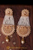 Champagne Stone Pearl Earrings By Punjabi Traditional Jewellery