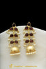 Gold Finished Montana Stone Jhumki Earrings By Punjabi Traditional Jewellery
