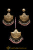 Pink Earring Tikka Set By Punjabi Traditional Jewellery