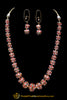 Red Kundan Pearl Necklace Set By Punjabi Taditional Jewellery