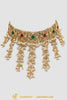 Multi Pearl Jadau Necklace Set By Punjabi Traditional Jewellery