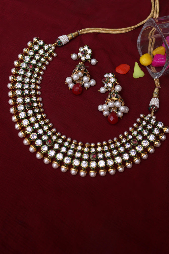 Pearl Necklace Set By Punjabi Traditional Jewellery