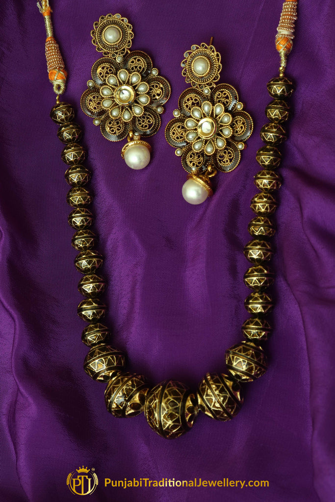 Pearl Jodha Mala Necklace Set By Punjabi Traditional Jewellery