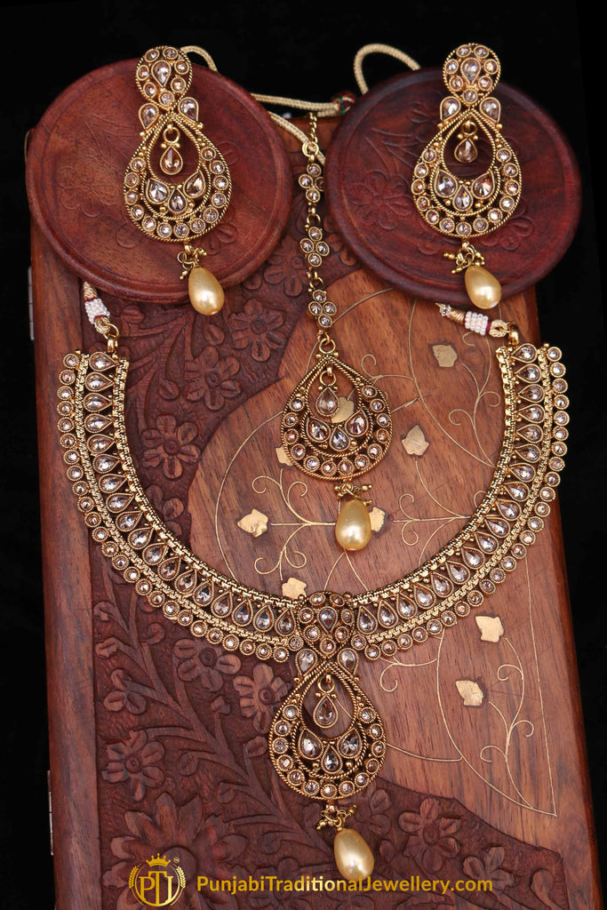 Raqs Polki Nacklace Set By Punjabi Traditional Jewellery