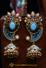 Firozi Antique Gold Earrings By Punjabi Traditional Jewellery