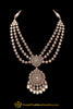 Pearl Champagne Stone Necklace Set By Punjabi Traditional Jewellery