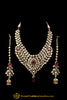 Kundan Necklace Set With Sahare Earrings Red Color By Punjabi Traditional Jewellery