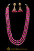 Pink Antique Gold Necklace Set By Punjabi Traditional Jewellery