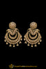 Polki Champagne Stone Earrings By Punjabi Traditional Jewellery
