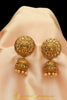 Champagne Stone Polki Jhumki Earrings By Punjabi Traditional Jewellery