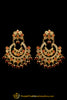 Red Jadau Earrings By Punjabi Traditional Jewellery