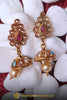 Multi Antique Gold, Jhumki & Pearl Earrings By Punjabi Traditional Jewellery