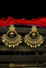 Black Gold Plated Polki Earrings By Punjabi Traditional Jewellery
