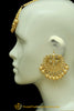 Golden Kundan Earring Tikka Set By Punjabi Traditional Jewellery