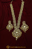 Golden Kundan Necklace Set By Punjabi Taditional Jewellery