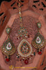 Multi Polki Earring Tikka Set By Punjabi Traditional Jewellery