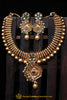 Red Green Antique Gold Necklace Set By Punjabi Traditional Jewellery