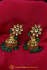 Green Jhumki Kundan Earrings By Punjabi Traditional Jewellery