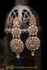 Polki Golden Earrings By Punjabi Traditional Jewellery