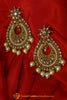 Polki Pearl Earrings By Punjabi Traditional Jewellery