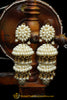 White Pearl Jhumki Earrings By Punjabi Traditional Jewellery