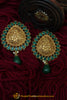 Green Stud Earrings By Punjabi Traditional Jewellery