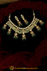 Green Kundan & Pearl Necklace Set By Punjabi Traditional Jewellery
