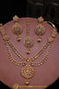 Ilam Maroon Polki Necklace Set By Punjabi Traditional Jewellery