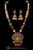 Green & Red Jodha Necklace Set By Punjabi Traditional Jewellery