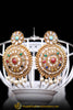 Magan Navratan Polki Earrings By Punjabi Traditional Jewellery