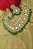 Green Kundan Necklace Set By Punjabi Taditional Jewellery