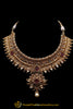 Red Antique Gold Choker Necklace Set By Punjabi Traditional Jewellery