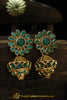 Gold Finished Emerald Earrings By Punjabi Traditional Jewellery