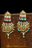 Multi Jadau Pearl Jhumar Earrings By Punjabi Traditional Jewellery
