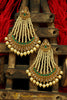 Green Polki Pearl Jhumar Earrings By Punjabi Traditional Jewellery