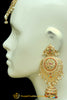 Multi Jadau Earrings Tikka Set By Punjabi Traditional Jewellery